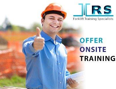 Offer offsite forklift training